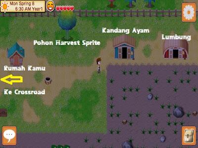aku sudah berjanji untuk menciptakan artikel wacana  Map dan Bangunan di Harvest Moon Seeds of Memories