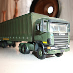 scania model  1/76 scale scania and curtainside trailer in RAF livery built from RTI componants
