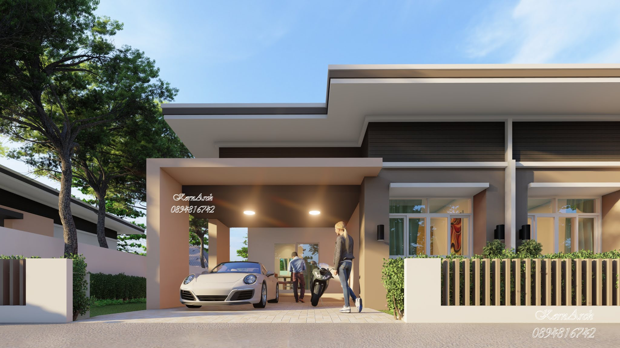รับออกแบบบ้านแฝดชั้นเดียว  เจ้าของโครงการ บริษัทเคกรุ้ปซัพพลาย จำกัด  สถานที่ก่อสร้าง อ.บางพลี จ.สมุทรปราการ
