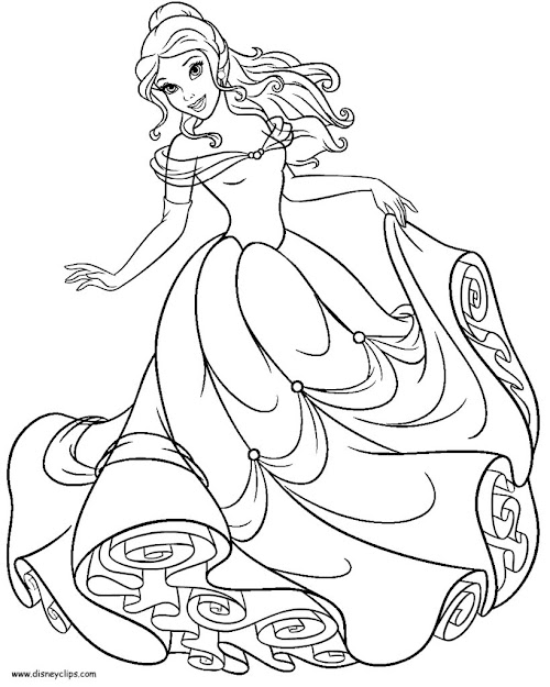 Coloring Pages Belle Now For Page