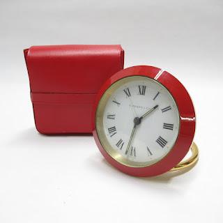 Tiffany & Co. Enameled Travel Clock