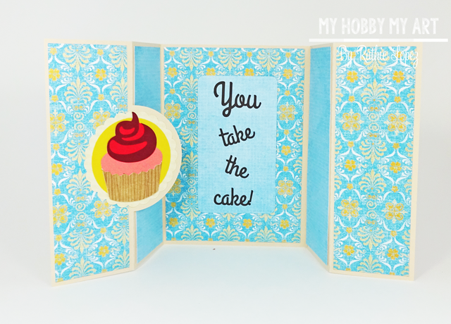 Cupcake Scallop Double Bi Fold card, SnaoDRagon Snippets, Ruthie Lopez, Hilda's Birthday , Blog Hop, Birthday Card 2