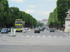 Place de la Concorde - looking down the Champs-Elysees toward the Arc de Triomphe