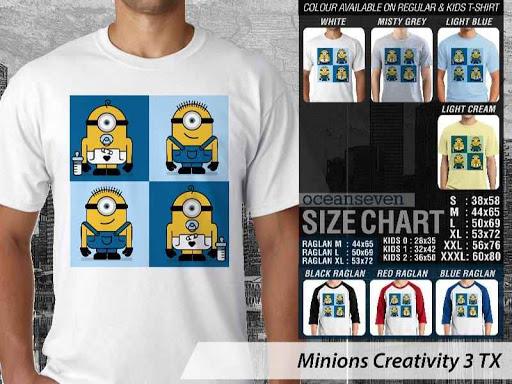 Kaos Kartun Minions Creativity 3 distro ocean seven