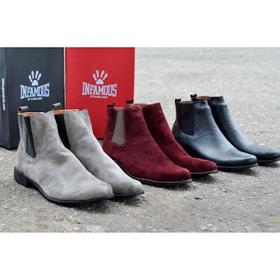 variety of Chelsea boots by infamous by glenn judo