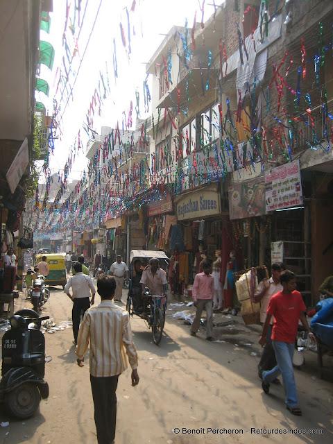 Une rue de Delhi