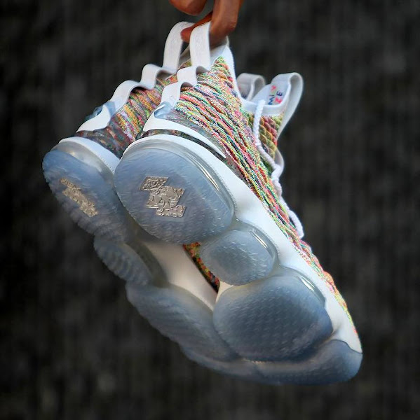 Closer Look at Fruity Pebbles LeBron 15 Thats Due on Easter