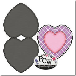 pcw heart scalloped shaped card-450