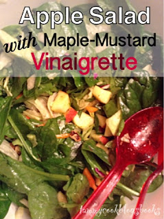 Apple Salad with Maple-Mustard Vinaigrette ~ source:tammycookblogsbooks