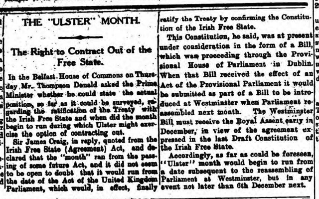 Ulster Month 2