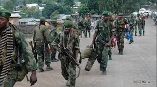 Des militaires congolais renforcent leurs positions autour de Goma au second jour des affrontements face aux rebelles du M23 (Photo Monusco)