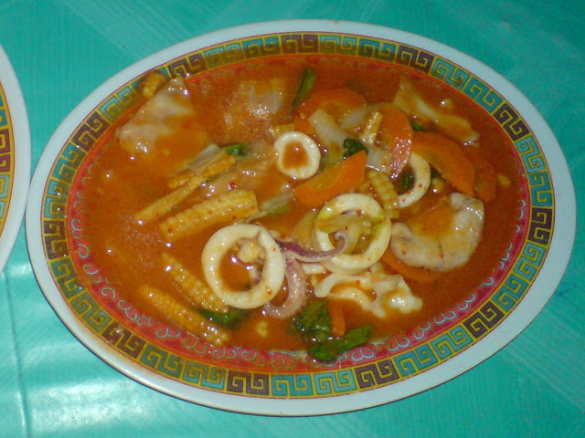 Cumi Asem Manis Pedas di Bandar Jakarta Seafood Wonosari
