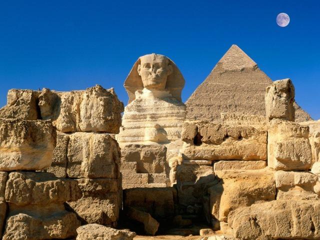 Pirâmides esfinge