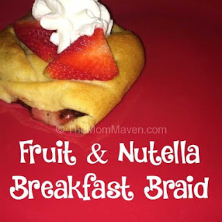 Fruit and Nutella Breakfast Braid
