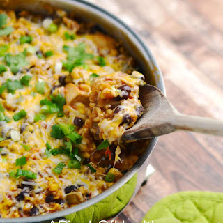 IChicken Enchilada Skillet (One Pot Meal)