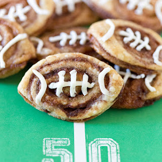 Football Cinnamon Roll Cookies