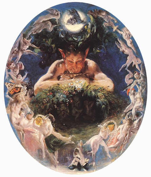 Daniel Maclise - Faun and the Fairies