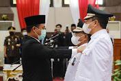 Lantik Bupati dan Wabup Toraja Utara, PLT  Gubernur Sulsel Tekankan Jaga Kekompakan