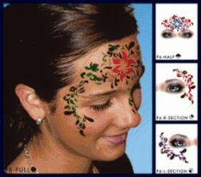 FA0006 Hawaiian Flower Design  European Body Art