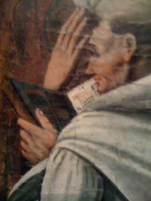 Detalle de otro libro gótico, esta vez a dos columnas y se aprecia una a capitular de tipo lombardo.