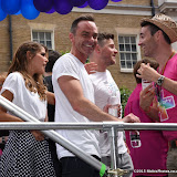 OIC - ENTSIMAGES.COM - Daniel Brocklebank, Gemma Oaten  and Joe McFadden at the Pride in London Parade  27th June 2015 Photo Mobis Photos/OIC 0203 174 1069