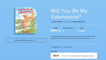 Great book for Valentines Day- Valenswine- Teacher to the Core