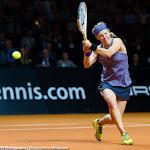 STUTTGART, GERMANY - APRIL 22 : Laura Siegemund in action at the 2016 Porsche Tennis Grand Prix