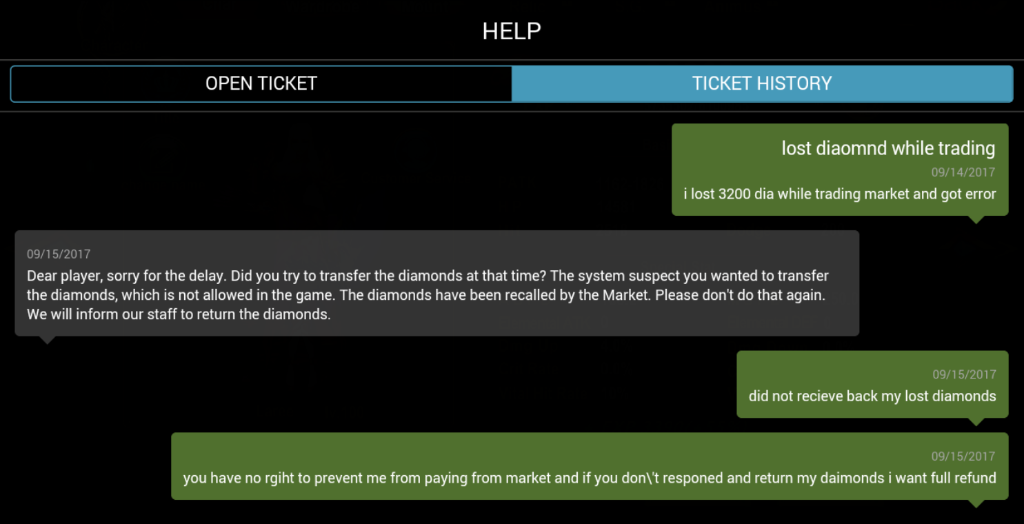 Fix A Ticket >> Iap Devictive In Game Support Will Not Fix Google Will Not