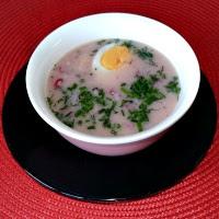 zupa rzodkiewkowa z jajem