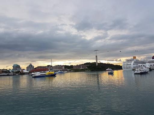 Sunset view at Sentosa Boardwalk Harbourfront