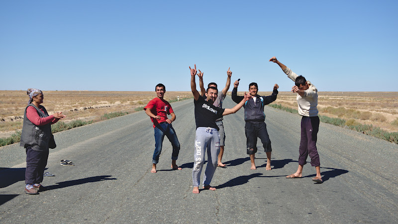 Dancing in the middle of road in the middle of nowhere, what better way to celebrate a birthday.