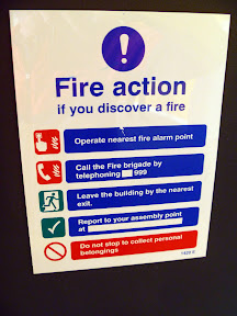 """and please let me know if you """"discover a fire"""""""