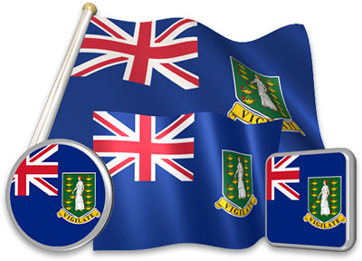 British Virgin Island  flag animated gif collection