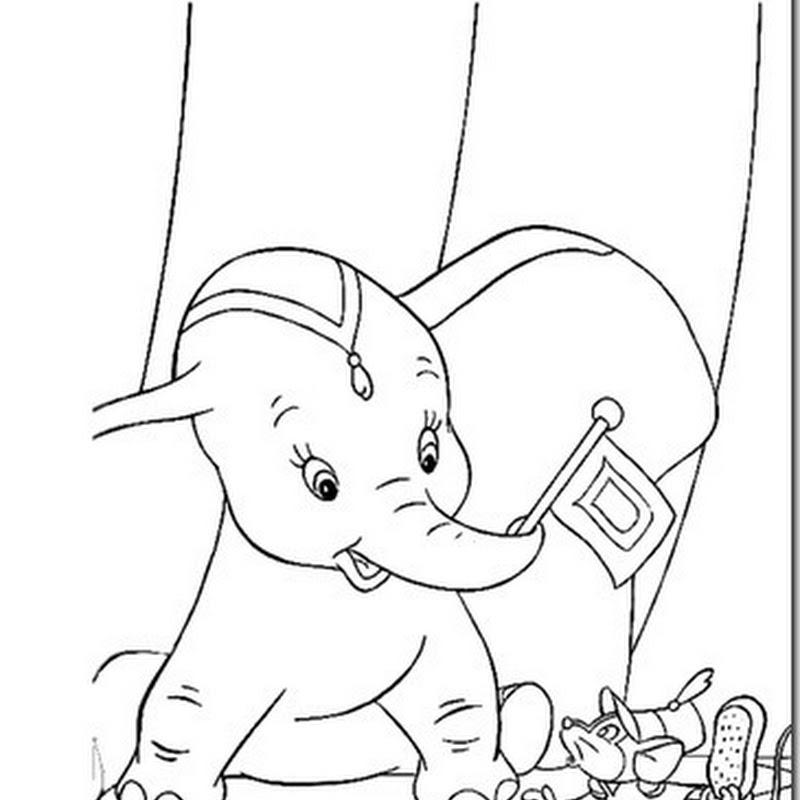 15 dibujos de Dumbo para colorear