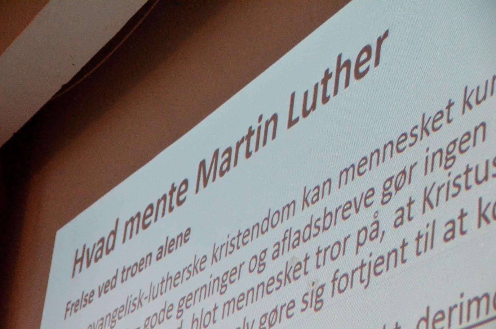 Fællestime om Luther