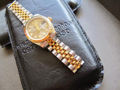 Bán đồng hồ rolex datejust nữ 6 số 179173 – đè mi vàng 18k – size 26 – sx 2013
