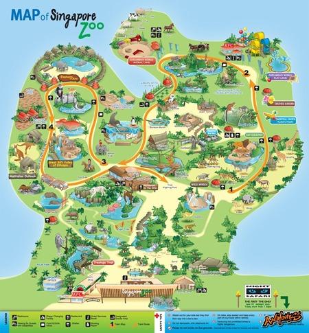 Singapore-Zoo-Map