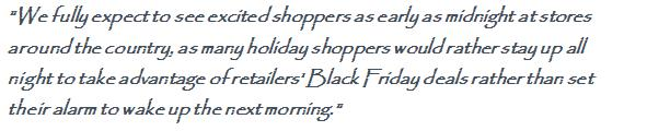 Black Friday Retailers Expects 152 million shoppers 1