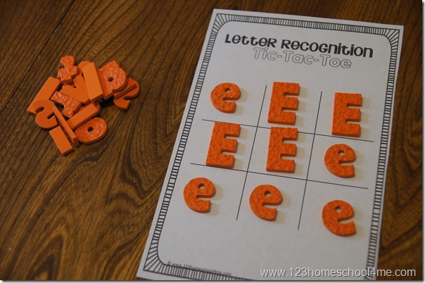upper lower case letter recognition alphabet game for preschool, kindergarten, 1st grade