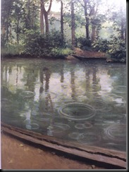 Caillebotte - L'Yerres in the Rain 1875