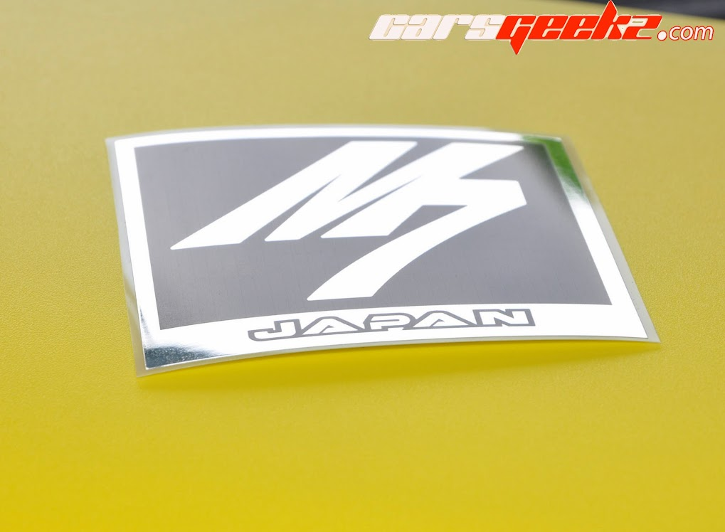 M7 in Black and Chrome 15 sticker vinyl decal