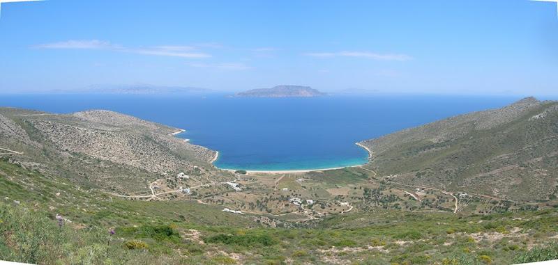 Panorama sulla spiaggia di Agìa Theodoti