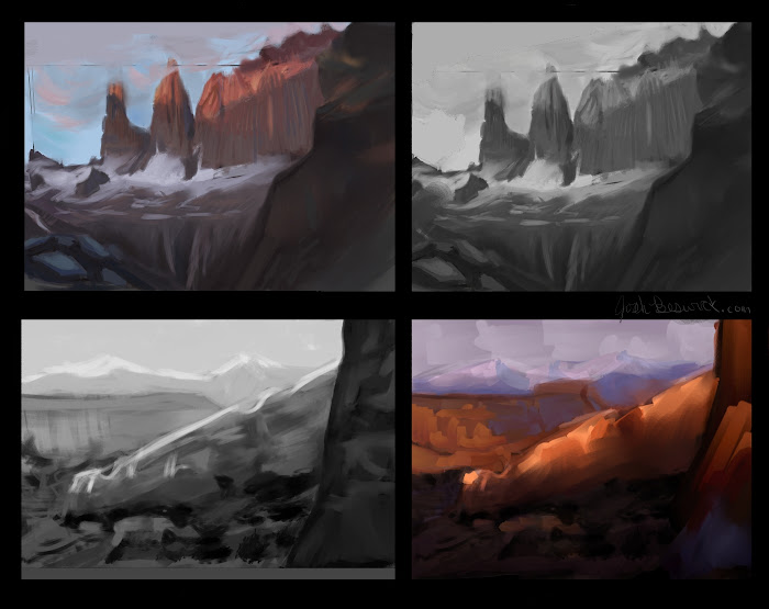 Help!  Landscape painting, color theory, and digital painting techniques?