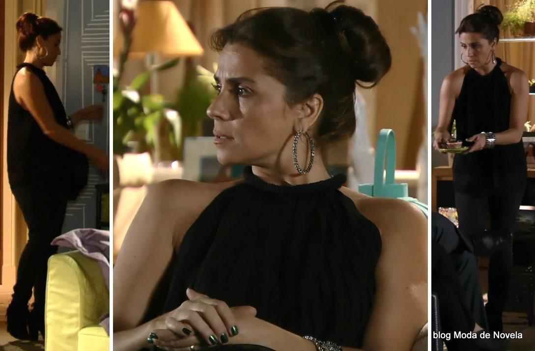 moda da novela Em Família - look da Clara dia 17 de maio