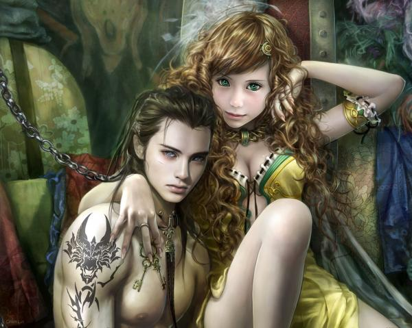 Two Beautiful Elfs, Elven Girls 2