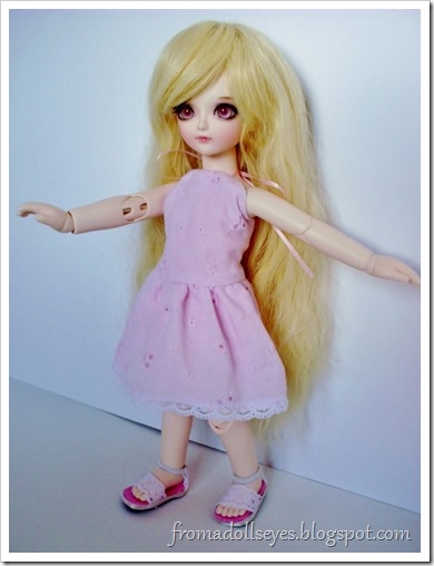 """Wordless Wednesday: """"I Can Fly!""""  Ball jointed doll pretending to fly."""