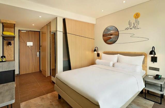 hotel modern dengan tema adem