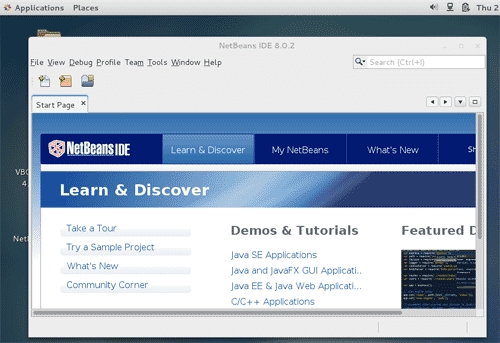 Netbeans 8.0 in CentOS 7 Linux