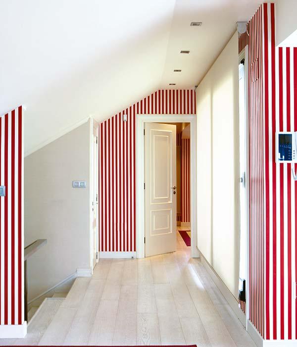 Algunos consejos para pintar paredes con rayas - Pintar paredes a rayas horizontales ...