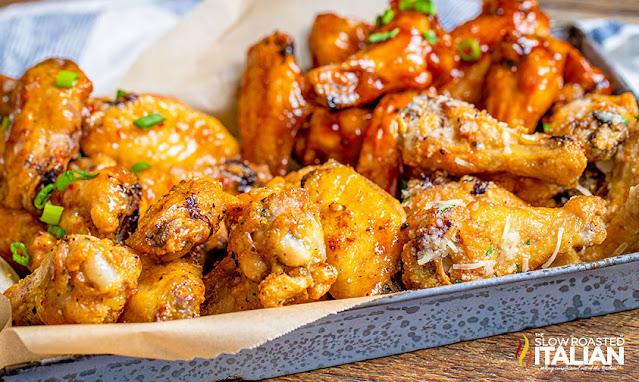 Air Fryer Chicken Wings 4 Ways
